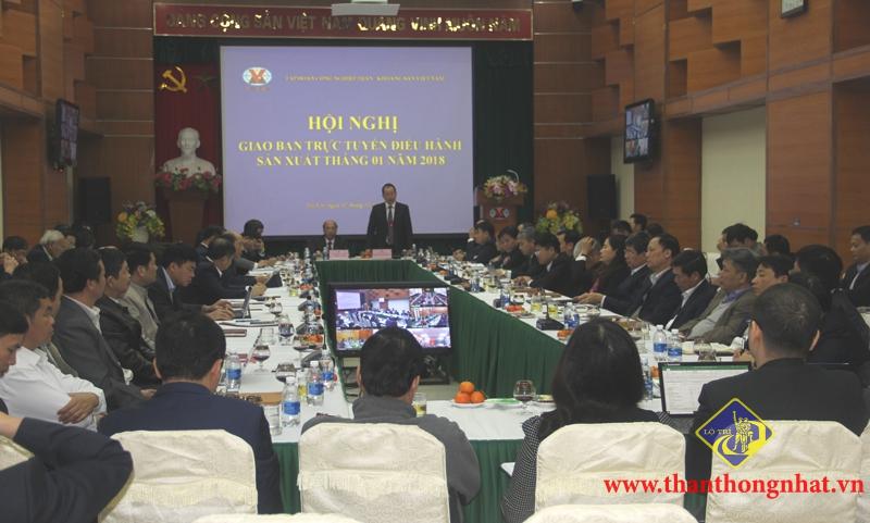 Hội nghị giao ban trực tuyến điều hành sản xuất tháng 1/2018