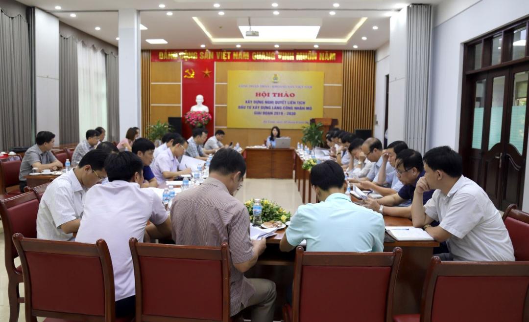 Hội thảo về đầu tư xây dựng Làng công nhân mỏ