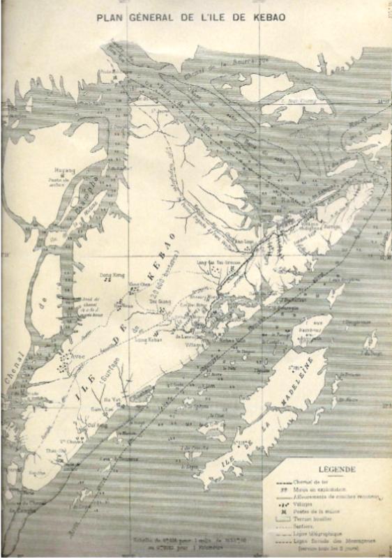 Bản đồ bán đảo Cái Bầu thời kỳ Pháp thuộc
