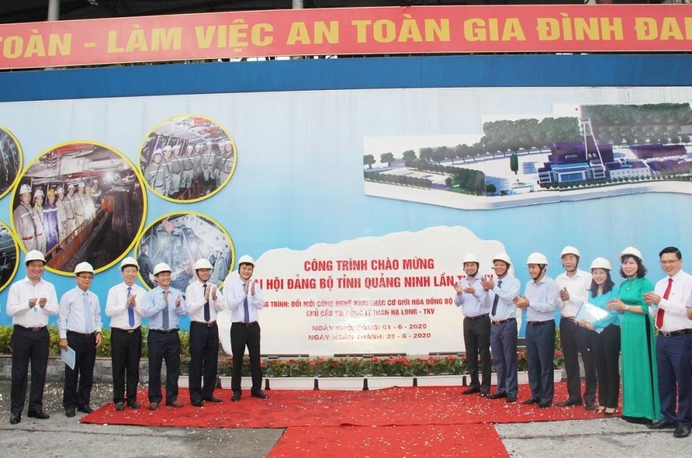 Công trình Đầu tư đổi mới công nghệ khai thác cơ giới hóa đồng bộ hạng nhẹ tại lò chợ I-11-5 khu vực Khe Chàm được chọn là 1 trong 10 công trình được để gắn biển chào mừng Đại hội lần thứ XV của Đảng bộ tỉnh Quảng Ninh