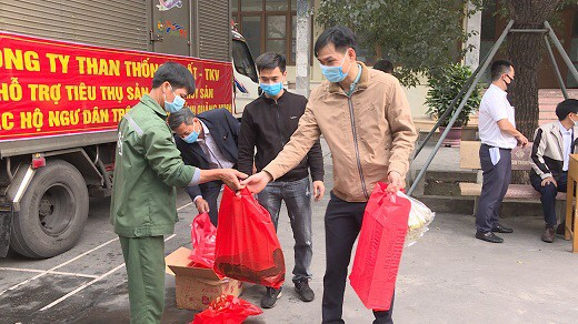 Công ty Than Thống Nhất - TKV ủng hộ tiêu thụ cá song của huyện Vân Đồn