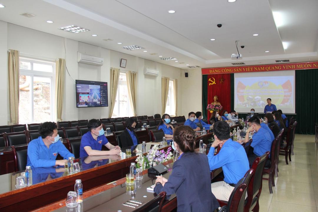 Bí thư Đoàn TQN Vũ Hồng Hậu phát động Tháng Thanh niên năm 2021 tại điểm cầu Hạ Long