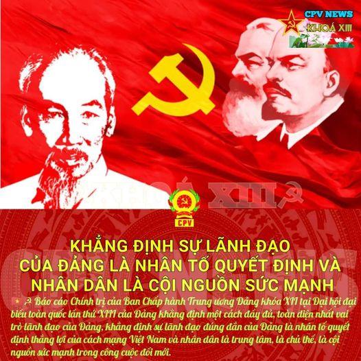 Khẳng định sự lãnh đạo của Đảng là nhân tố quyết định và Nhân dân là cội nguồn sức mạnh