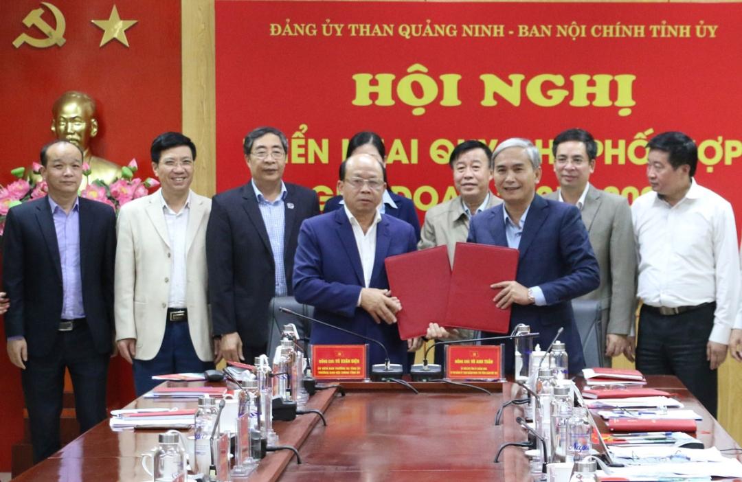Ban Nội chính Tỉnh ủy Quảng Ninh và Đảng ủy Than Quảng Ninh thống nhất ký kết quy chế phối hợp