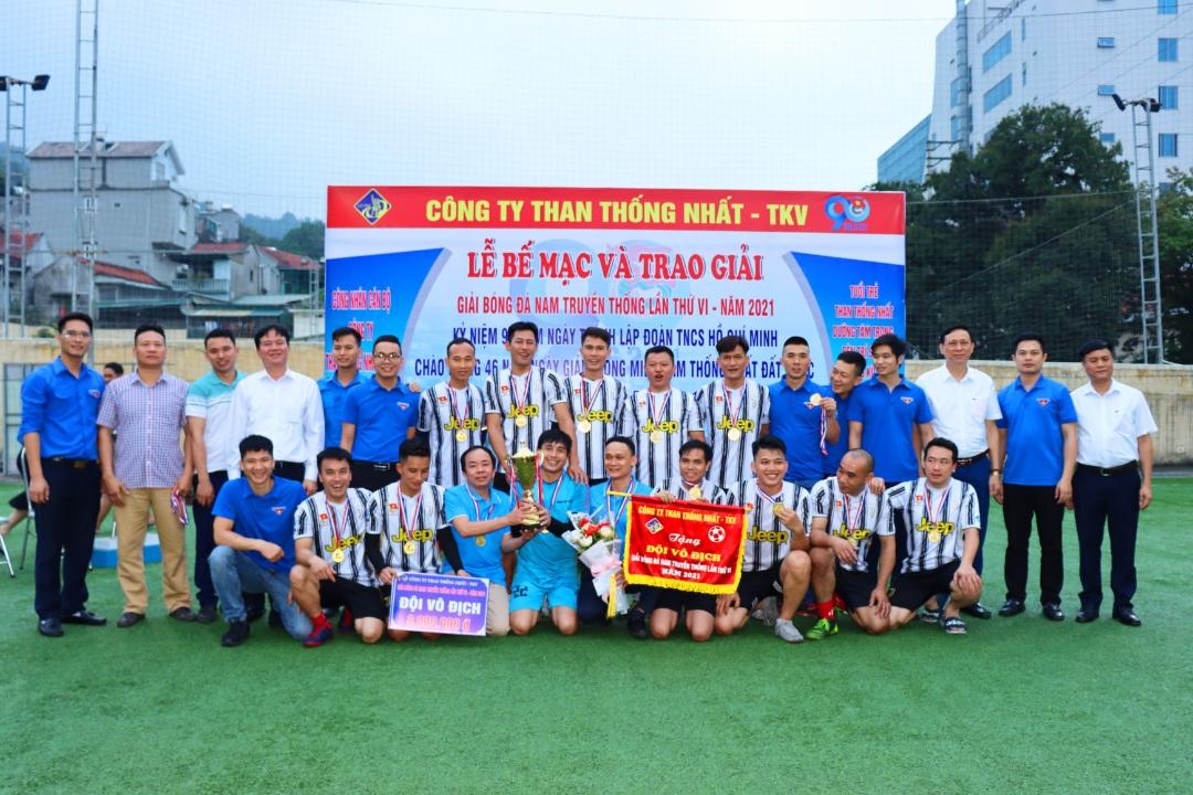 Liên quân Mặt bằng +48 vô địch giải bóng đá nam truyền thống lần thứ VI năm 2021