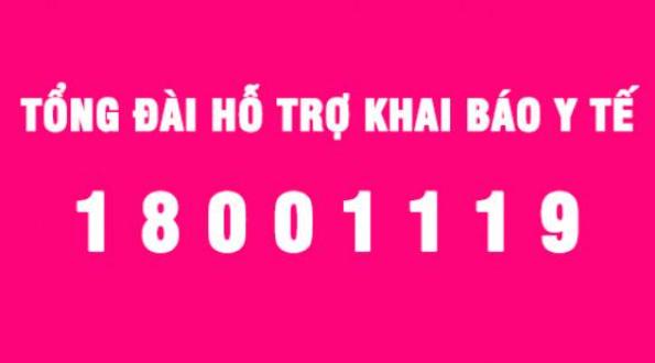 Đưa vào vận hành Tổng đài hỗ trợ khai báo y tế - Số máy 18001119
